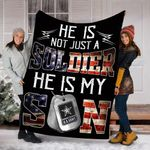 Customs Blanket He Is Not Just A Soldier He Is My Son Blanket - Fleece Blanket