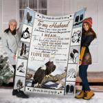Customs Blanket TO MY HUSBAND Blanket - Perfect Gift For Husband - Fleece Blanket #42365