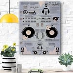 Custom Printing DJ The Art Of Beatmatching Canvas Print Wall Art - Matte Canvas