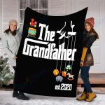 Customs Blanket Promoted to Grandpa Grandfather 2020 Blanket - Fleece Blanket