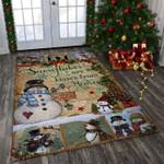 Custom Areas Rug Snowman Rug - Gift For Family #71729