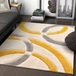 Custom Areas Rug San Francisco Shag Yellow Rug - Gift For Family