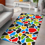 Custom Areas Rug Colorful Cow Rug - Gift For Family