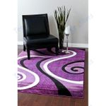 Custom Areas Rug Frampton Cotterell Abstract Purple Rug - Gift For Family