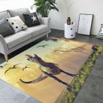 Custom Areas Rug Roaring Dinosaur Rug - Gift For Family