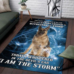 Custom Areas Rug German Sheperd Storm Rug - Gift For Family