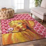 Custom Areas Rug Dachshund Valentine 3 Rug - Gift For Family