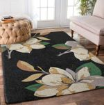 Custom Areas Rug Magnolia Black Rug - Gift For Family