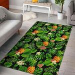Custom Areas Rug Black Hawaiian Pineapple Rug - Gift For Family