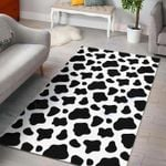 Custom Areas Rug Black And White Cow Rug - Gift For Family