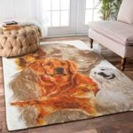 Custom Areas Rug Golden Retriever 4 Rug - Gift For Family
