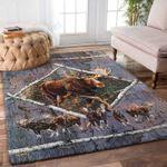 Custom Areas Moose Rug - Gift For Family