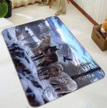 Custom Areas Snow Mountain And Wolf Rug - Gift For Family