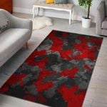 Custom Areas Rug Black And Red Camouflage Rug - Gift For Family