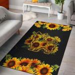 Custom Areas Rug Sunflower Yorkshire Terrier Rug - Gift For Family