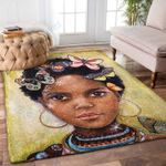 Custom Areas Rug African Girl Butterfly Rug - Gift For Family