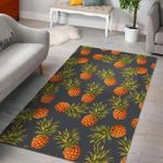 Custom Areas Rug Grey Watercolor Pineapple Rug - Gift For Family