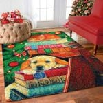 Custom Areas Rug Golden And Cat Christmas Rug - Gift For Family