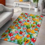 Custom Areas Rug Hawaiian Tropical Fruits Rug - Gift For Family