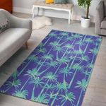 Custom Areas Teal Palm Tree Rug - Gift For Family