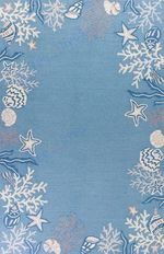Custom Areas Rug Coral Sea Blue Rug - Gift For Family