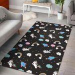 Custom Areas Star Space Unicorn Rug - Gift For Family