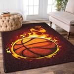 Custom Areas Rug Burning Basketball Rug - Gift For Family