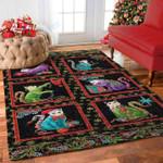 Custom Areas Rug Black Cat Christmas Rug - Gift For Family