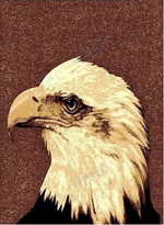 Custom Areas Rug Eagle Head Rug - Gift For Family