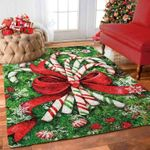 Custom Areas Rug Candy Cane Rug - Gift For Family