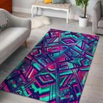 Custom Areas Neon Ethnic Aztec Trippy Rug - Gift For Family