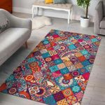 Custom Areas Rug Ethnic Bohemian Mandala Rug - Gift For Family