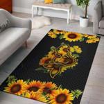 Custom Areas Sunflower Mermaid Rug - Gift For Family