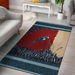 Custom Areas Rug Blue Bird Art Rug - Gift For Family