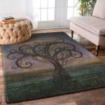 Custom Areas Rug Golden Spiral Tree Rug - Gift For Family