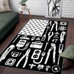 Custom Areas Rug American Lineman Rug - Gift For Family