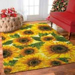 Custom Areas Sunflower 3 Rug - Gift For Family