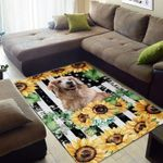 Custom Areas Rug Golden Retriever Love Rug - Gift For Family