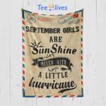 Custom Blanket Letter September Girls Are Sunshine Blanket - Happy Birthday Daughter - Fleece Blanket