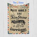 Custom Blanket Letter May Girls Are Sunshine Blanket - Happy Birthday Daughter - Fleece Blanket