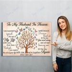 To My Husband In Heaven Canvas Print Wall Art - Matte Canvas