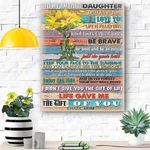 To My Amazing Daughter Canvas Print Wall Art - Gift For Daughter - Matte Canvas