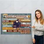Pianist Piano Classroom Canvas Print Wall Art - Matte Canvas