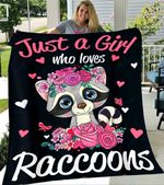 Custom Blanket Raccoons Blanket - Perfect Gifts For Girls - Fleece Blanket