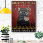 Whatever Kitty Canvas Print Wall Art - Matte Canvas