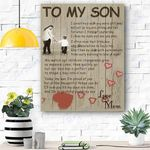To My Son Canvas Print Wall Art - Matte Canvas