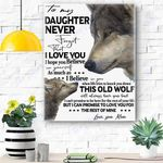 To My Daughter Wolf Canvas Print Wall Art - Gift for Daughter - Matte Canvas