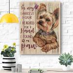 Yorkshire Dog Canvas Print Wall Art - Matte Canvas