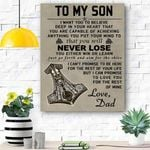 To My Son Viking Canvas Print Wall Art - Gift For Son - Matte Canvas