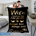 Personalized To My Wife Gifts - To My Wife Custom Name Blanket - Fleece Blanket